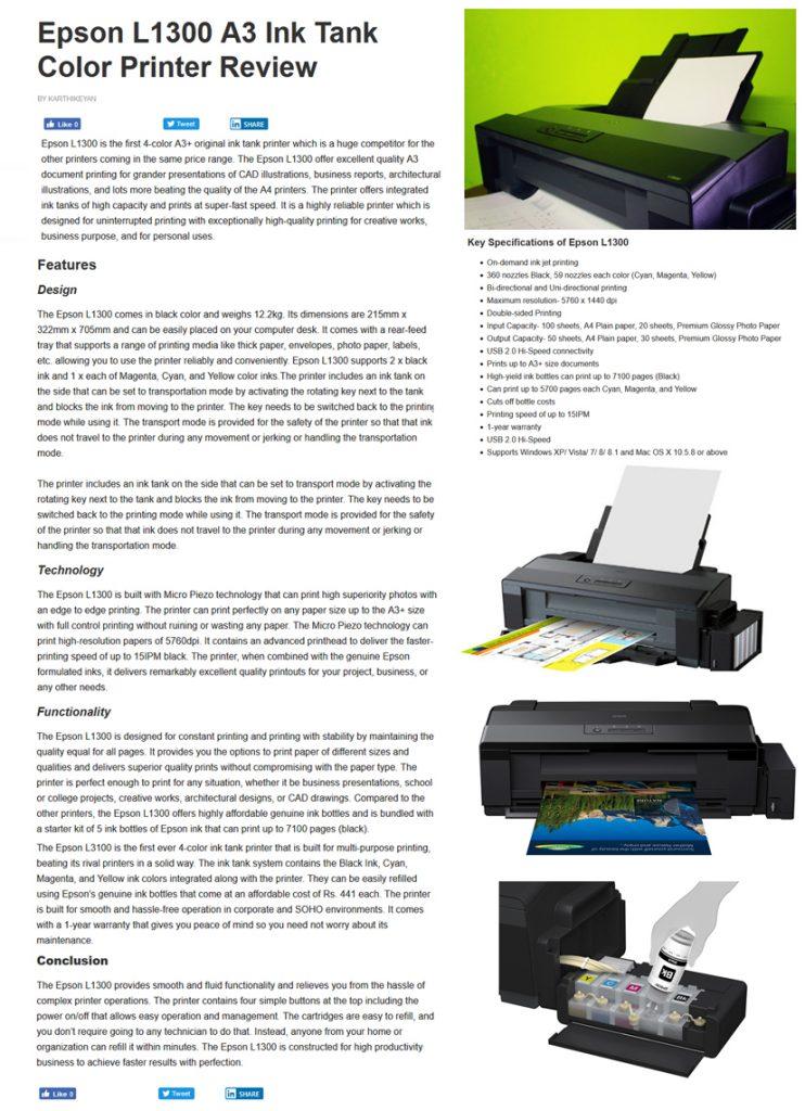 L1300 Review.